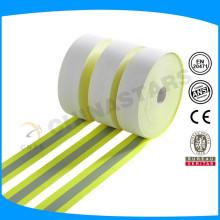 Флуоресцентная огнестойкая отражающая ткань, отражающий материал. EN471