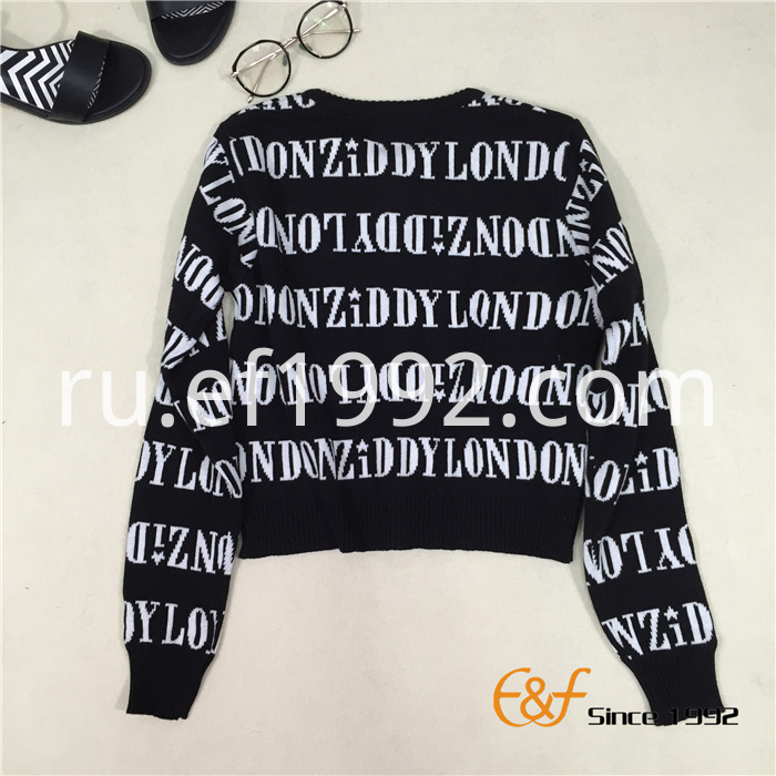 two-color jacquard sweater for women