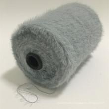 FACTORY AA grade gray imitate mink hair 8.5NM 2CM 100%nylon types of fancy nylon super soft knitting yarn