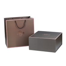 Custom Wholesale Antique Cardboard Collapsible Flip Top Flat Pack Gift Box With Magnetic Closure
