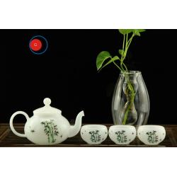 Hot Sale Milk Glass Teaware of Chinese Style