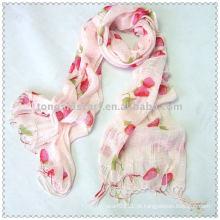 Lenço de morango tecido (rosa)