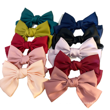 New Fabric Solid Big Hair Barrettes Bow Knot Fashion Accessories Hairpin Korean Sweet Spring Clip