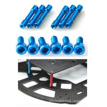 Parafusos de soquete anodizados de alumínio coloridos adaptados do parafuso para zangões / Helicoper / FPV