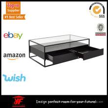 Modern Low Glass Top Coffee Table