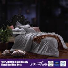 Großhandel 100% Baumwolle Rasterdruck Tröster Sets Bettwäsche