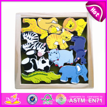 2014 New Colorful Kids Wooden Animal Toy, Popualr Cute Children Wooden Animal Toy, Lovely Baby Wooden Animal Toy Set W13e029