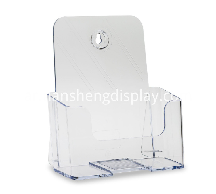 Clear Acrylic Booklet Countertop Holder