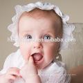 Elegante bebé niña niños pequeños vestidos de Frock bebé infantil Bautismo ropa con sombrero de 0-2 años de edad