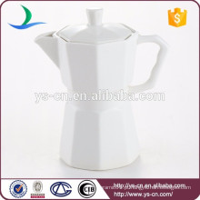 Pote de chá de cerâmica branco moderno por atacado