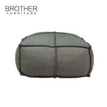 Home hotel fabric woven comfortable soft ottoman pouf seat