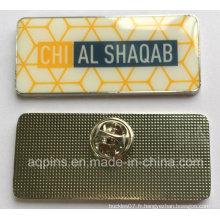 Badge de nom de balise nom personnalisé avec impression et époxy (badge-203)