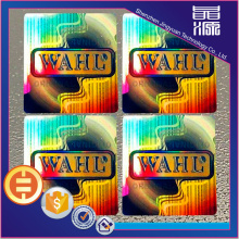 Adhesive rainbow laser hologram sticker customized labels