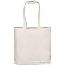 Kundenspezifische Baumwoll-Einkaufstasche mit 10cm Zwickel (hbco-107)