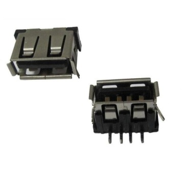 USB A Receptacle Angle DIP12.80mm Short Body 10mm (2legs)