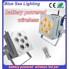 Batterie 6pcs 18W 6in1 wifi führte par KTV Partei-Lichter geführtes drahtloses DMX Par
