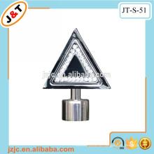 Teleskopische doppelte Metallvorhangstange mit Diamantvorhang finial