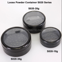 10g 20g 30g Black Loose Powder Jars
