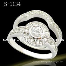 Weiß 925 Silber Hochzeit Ring Schmuck (S-1134 JPG)