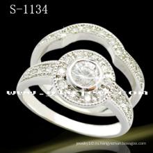 Белый 925 Серебряный Обручальное кольцо Ювелирные изделия (S-1134. JPG)