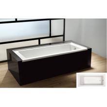 """Baignoire en alcôve de 60 """"X 32"""" avec bride de carrelage intégrée et baignoire pour drain à gauche"""