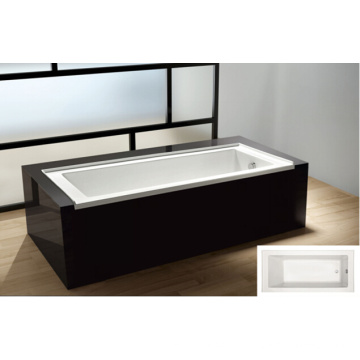 "60"" X 32"" Alcove Bath with Integral Tile Flange and Left-Hand Drain Bathtub"