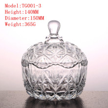 Crystal glassware candy jar glass bottle