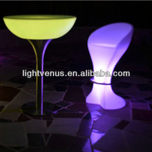 rechargeable factory direct sale fresh Ipad control color changing high top outdoor table