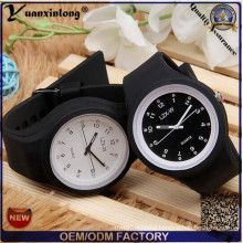 Yxl-990 High Quality Square Jelly Watch Silicone Quartz Wrist Watch