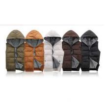 Down Cotton Vest Winter Warm Slim Reversible
