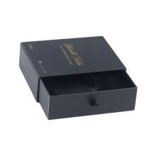 Custom Black Packaging Tie Slide Drawer Paper Box
