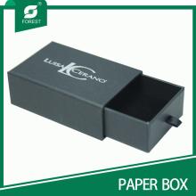 Caja de regalo negra de encargo del cajón de la impresión del logotipo