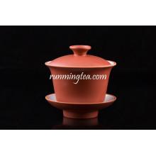 Rote Farbe Porzellan Kaffee Tee Cup Set