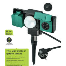 IP54 Outdoor Socket with Dawn Sensor
