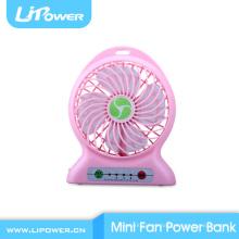 2016 regalos promocionales usb mini ventilador eléctrico