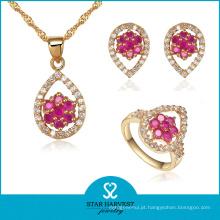 18k jóias de ouro jóias de diamante por atacado (sh-j0051)