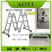 EN131 Aluminum material  3 step folding ladder