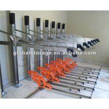 Flexibler Fahrradständer mit zwei Ebenen