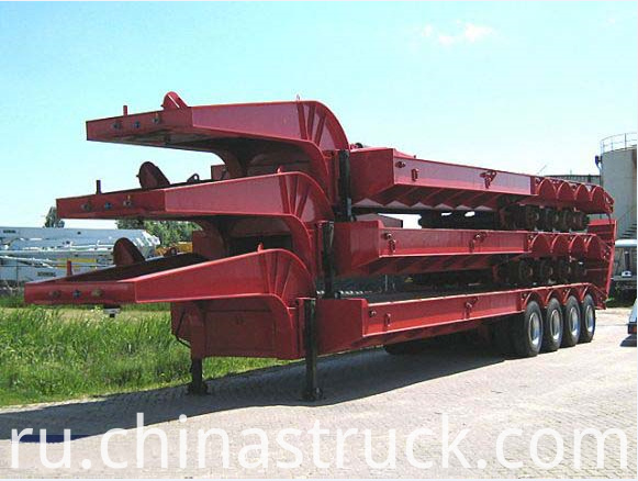 4 axle 100Ton low bed trailer