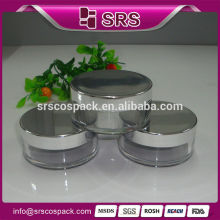factory best selling empty acrylic cream container 10g 15g 50g cosmetic loose powder transparent jar