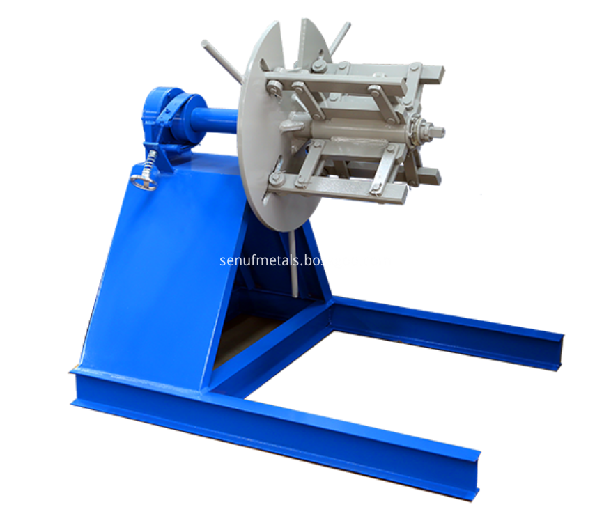 Downspout pipe forming 3 tons manaual decoiler