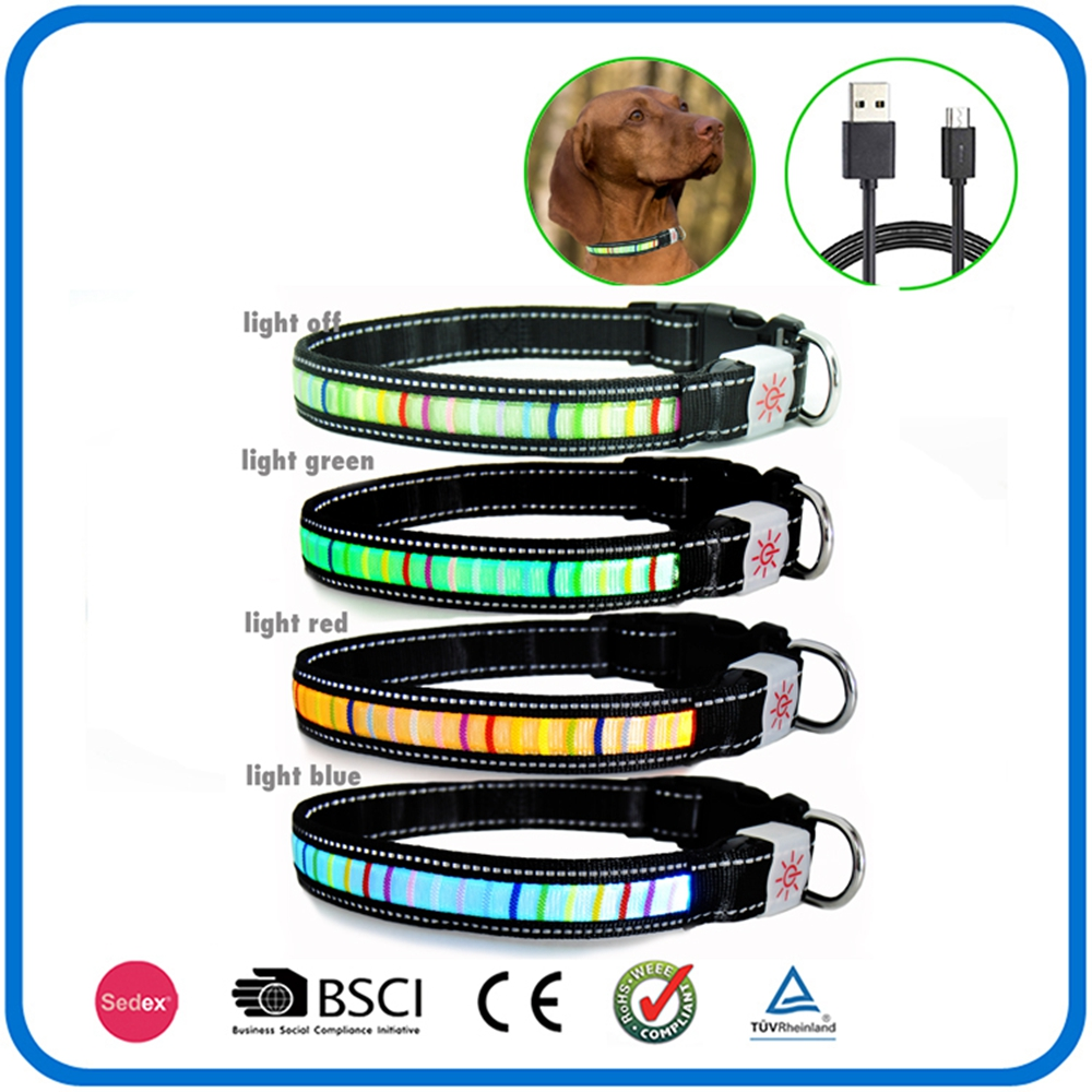 Nylon Glow In The Dark Pet Safe Collars And Leashes