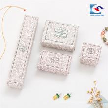 Caja de presentación impresa al por mayor a granel del collar caja de regalo de la joyería de navidad inserciones