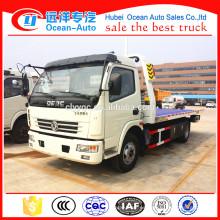 4 * 2 Heavy Duty Wrecker Truck 4 ton Road Vehículo desguazador de plataforma plana