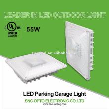 A luz a mais atrasada do dossel da garagem de estacionamento do diodo emissor de luz de 55 watts do SNC com UL CUL