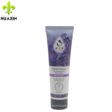 75g white plastic hand cream tube with flip top cap