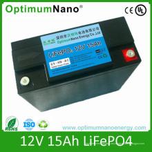 Batería al por mayor de la vespa de LiFePO4 12V 15ah con BMS