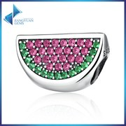 wholesale 925 Sterling Silver watermelon charm for jewelry making