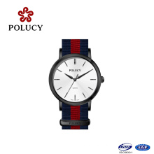 Moda personalizada Nato Band Watch correa de nylon relojes pulseras reloj