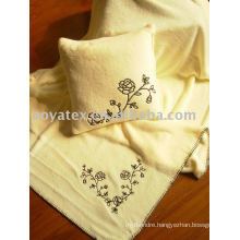 Embroider printed coral fleece blanket